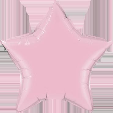 Pearl Pink Foil Star 4in/10cm