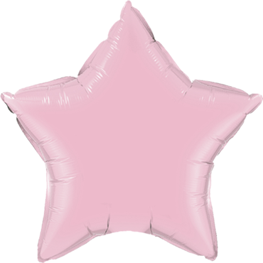 Pearl Pink Foil Star 9in/22.5cm