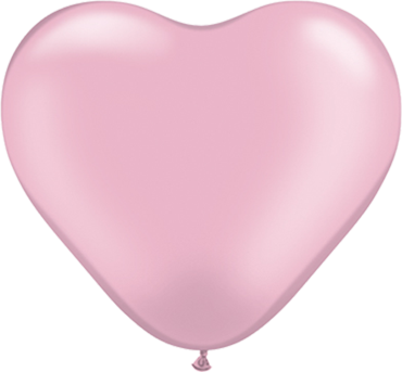 Pearl Pink Latex Heart 6in/15cm