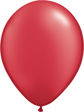 Pearl Ruby Red Latex Round 16in/40cm
