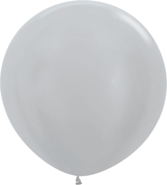 Pearl Silver Latex Round 36in/90cm