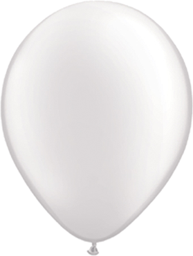 Pearl White Latex Round 5in/12.5cm