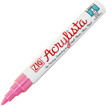 Pink Chisel Pen 6mm