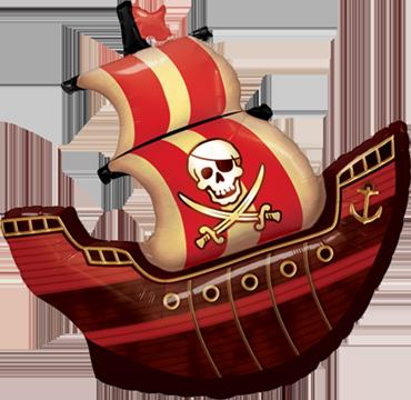 Pirate Ship Foil Shape 40in/100cm