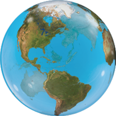 Planet Earth Single Bubble 22in/55cm