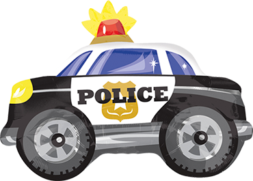 Police Car Foil Shape 20in/50cm