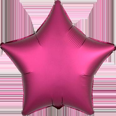 Pomegranate Satin Luxe Foil Star 17in/43cm