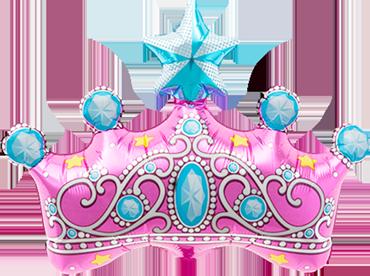 Princess Crown Foil Shape 14in/35cm