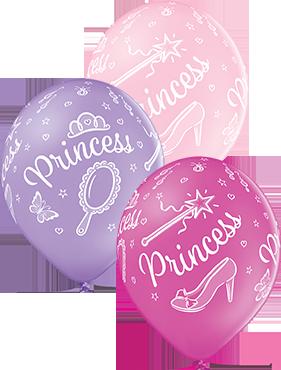 Princess Pastel Pink, Pastel Lavender and Pastel Rose Assortment Latex Round 12in/30cm