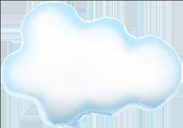 Puffy Cloud Foil Shape 30in/76cm
