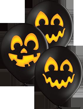 Pumpkins Pastel Black Latex Round 12in/30cm