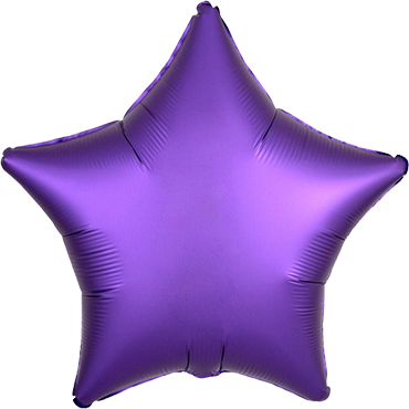 Purple Royale Satin Luxe Foil Star 17in/43cm