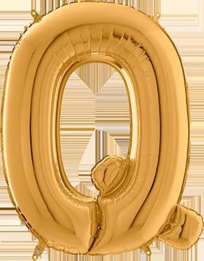 Q Gold Foil Letter 26in/66cm