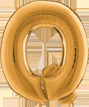 Q Gold Foil Letter 7in/18cm