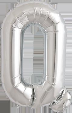 Q Silver Foil Letter 16in/40cm