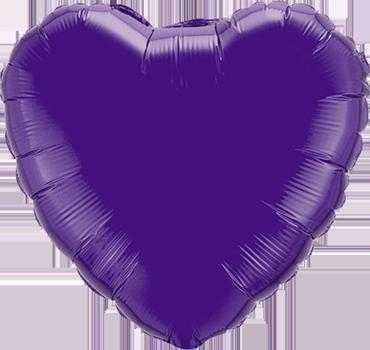 Quartz Purple Foil Heart 18in/45cm