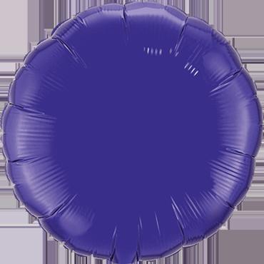 Quartz Purple Foil Round 18in/45cm
