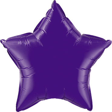 Quartz Purple Foil Star 36in/90cm
