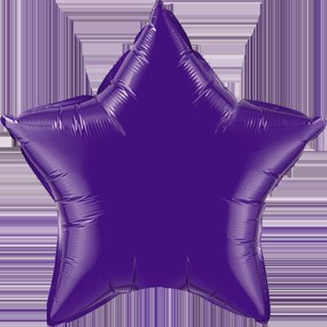 Quartz Purple Foil Star 36in/90cm