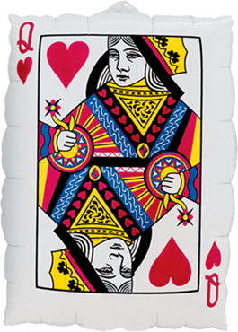 Queen Of Hearts - Ace Of Spades Foil Shape 30in/75cm