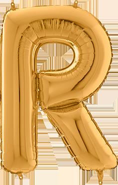 R Gold Foil Letter 26in/66cm