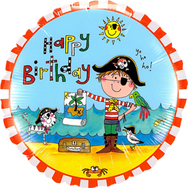 Rachel Ellen - Birthday Pirate Foil Round 18in/45cm