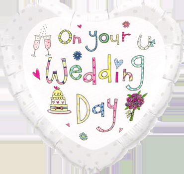 Rachel Ellen - Wedding Foil Heart 18in/45cm