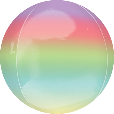 Rainbow Ombre Orbz 15in/38cm x 16in/40cm