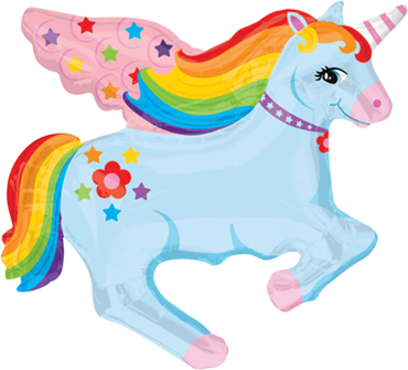 Rainbow Unicorn Vendor Foil Shape 28in/71cm x 28in/71cm