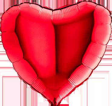 Red Foil Heart 24in/60cm