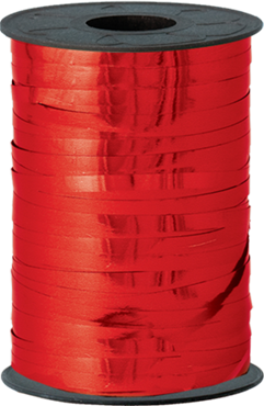 Red Metallic Curling Ribbon 5mm x 250m