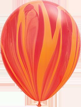 Red Orange Rainbow SuperAgate Latex Round 11in/27.5cm