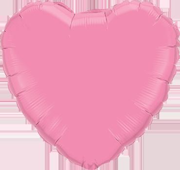 Rose Foil Heart 18in/45cm
