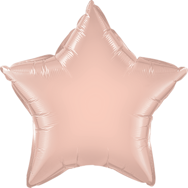 Rose Gold Foil Star 9in/22.5cm