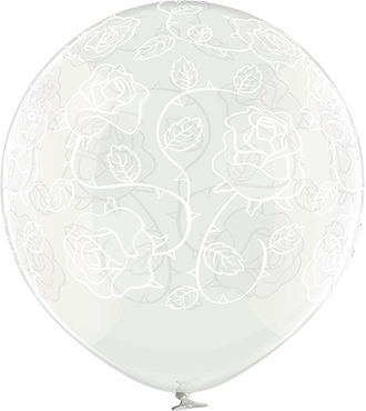 Roses Crystal Clear (Transparent) Latex Round 24in/60cm