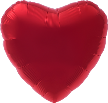 Ruby Red Foil Heart 18in/45cm