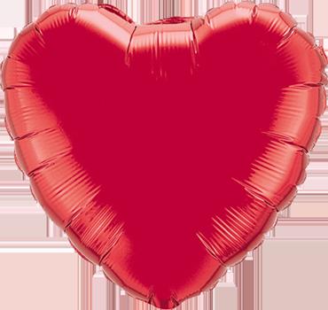 Ruby Red Foil Heart 4in/10cm