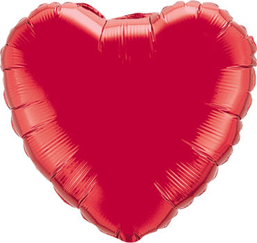 Ruby Red Foil Heart 9in/22.5cm
