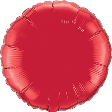 Ruby Red Foil Round 4in/10cm