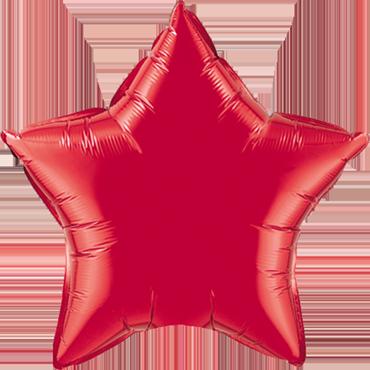 Ruby Red Foil Star 9in/22.5cm