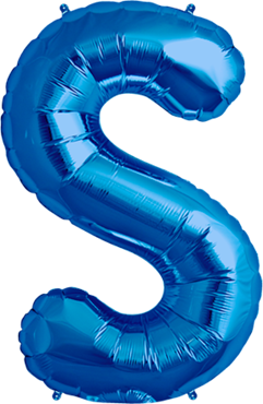 S Blue Foil Letter 16in/40cm