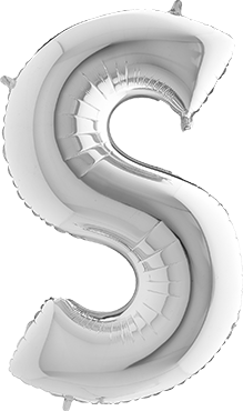 S Silver Foil Letter 7in/18cm