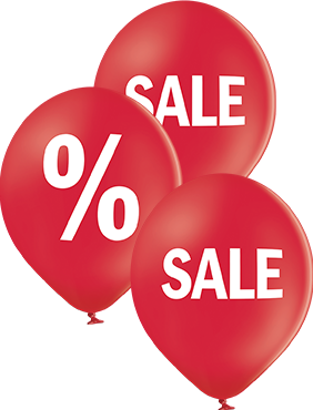 Sales Pastel Red Latex Round 12in/30cm