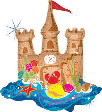 Sand Castle Foil Shape 35in/89cm