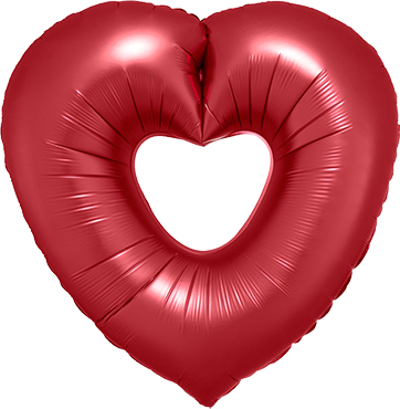 Sangria Open Heart Foil Shape 26in/66cm
