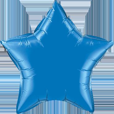 Sapphire Blue 6 Point Foil Star 22in/55cm