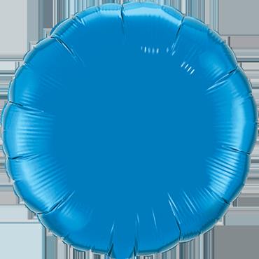 Sapphire Blue Foil Round 4in/10cm