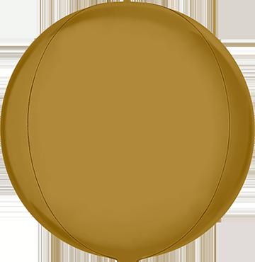 Satin Gold Globe 15in/38cm