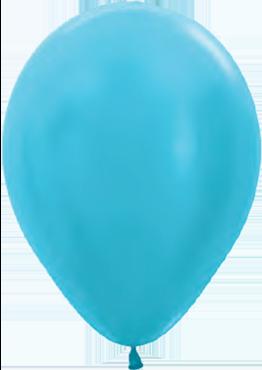 Satin Pearl Caribbean Blue Latex Round 5in/12.5cm