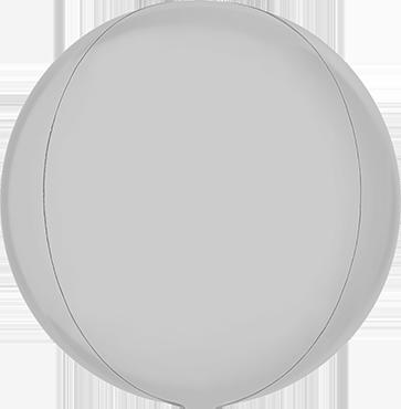 Satin White Globe 15in/38cm